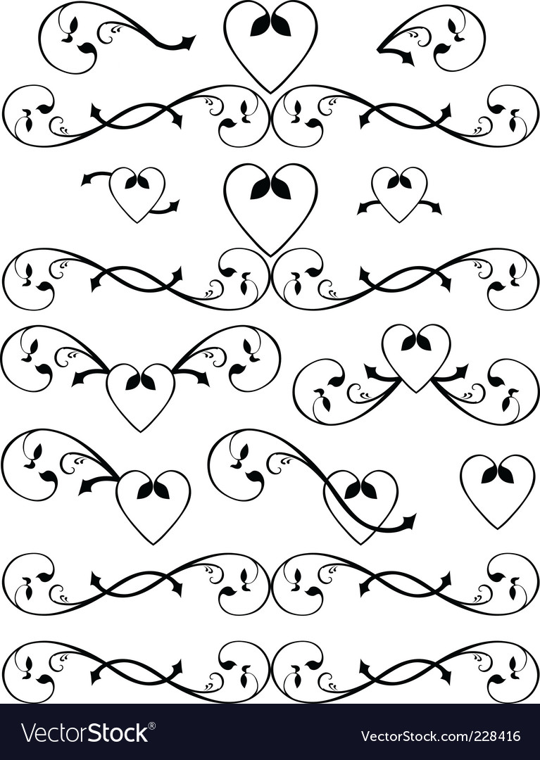 Scroll set vector | Price: 1 Credit (USD $1)