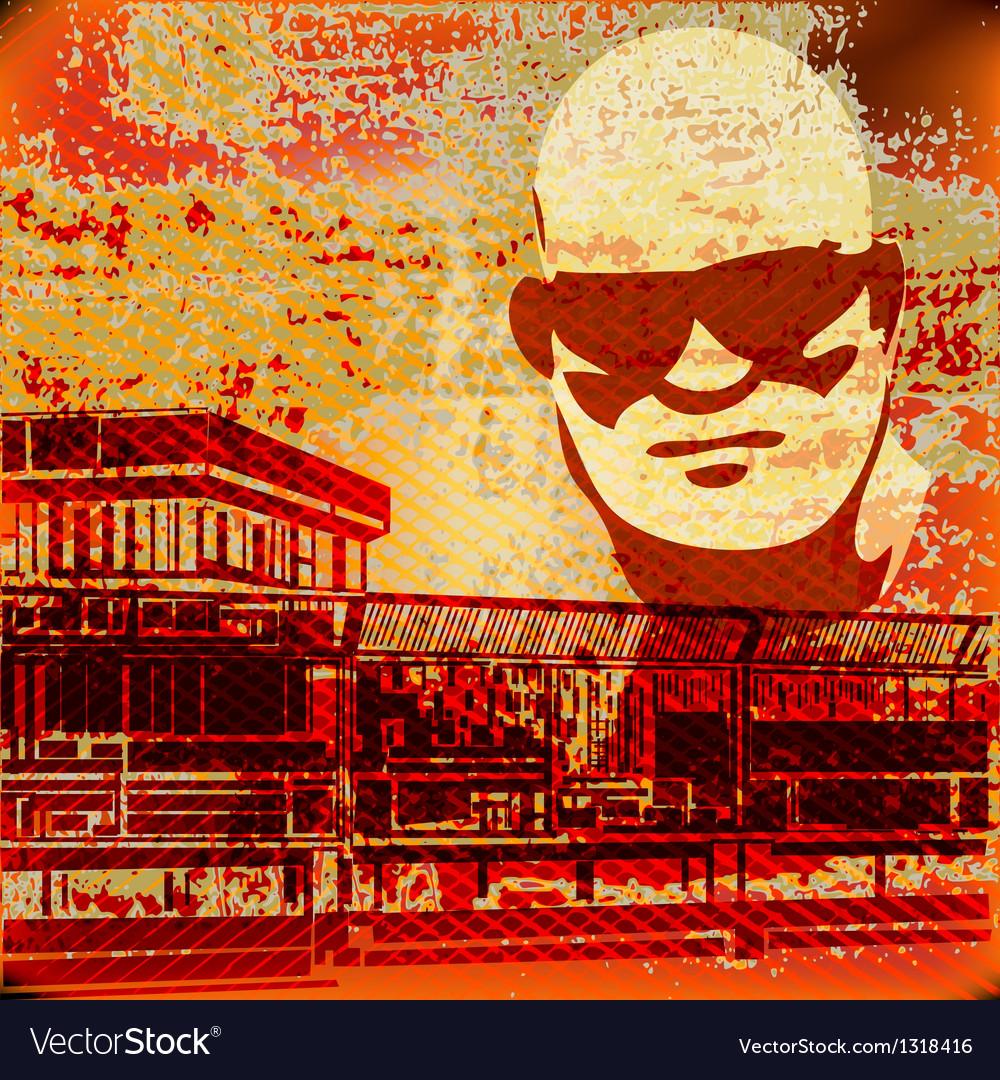 Serious sunglasses vector | Price: 1 Credit (USD $1)