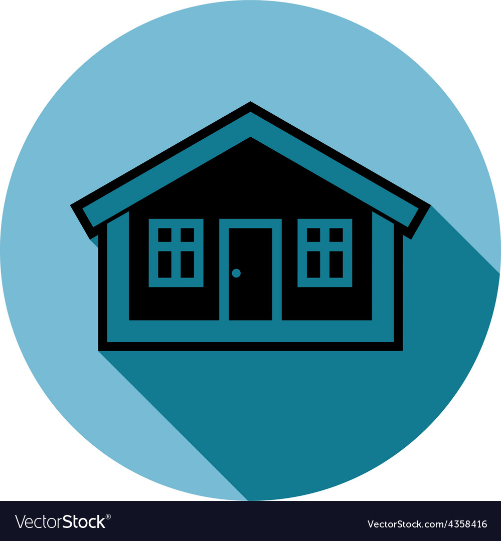 Simple house detailed property developer co vector | Price: 1 Credit (USD $1)