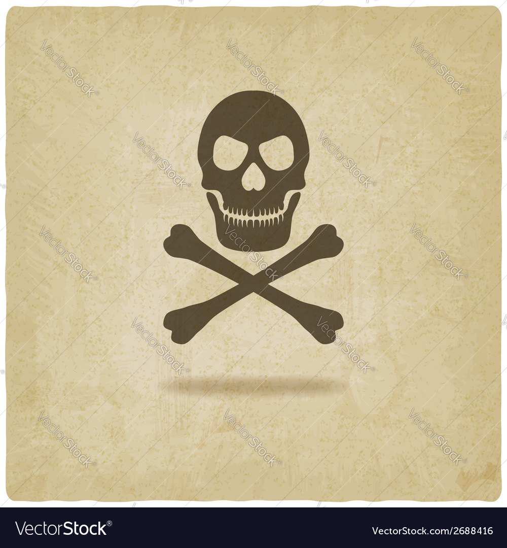 Skull and crossbones old background vector | Price: 1 Credit (USD $1)