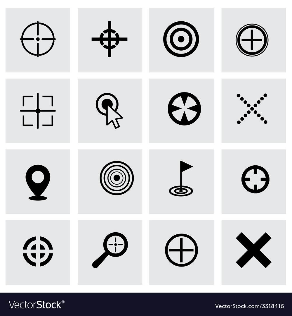 Target icon set vector | Price: 1 Credit (USD $1)