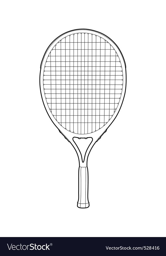 Tennis racket vector | Price: 1 Credit (USD $1)