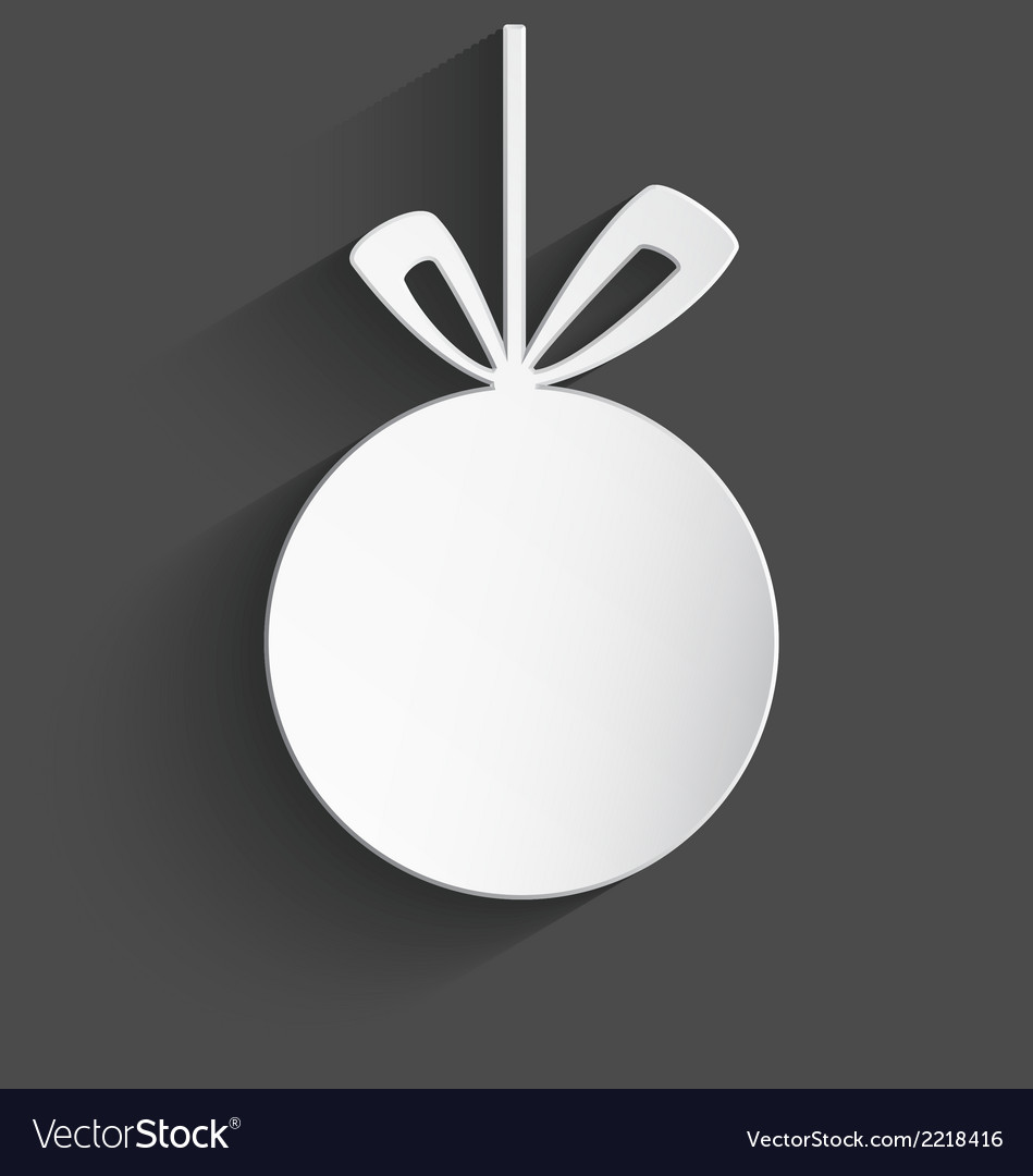 White 3d christmas ball vector | Price: 1 Credit (USD $1)