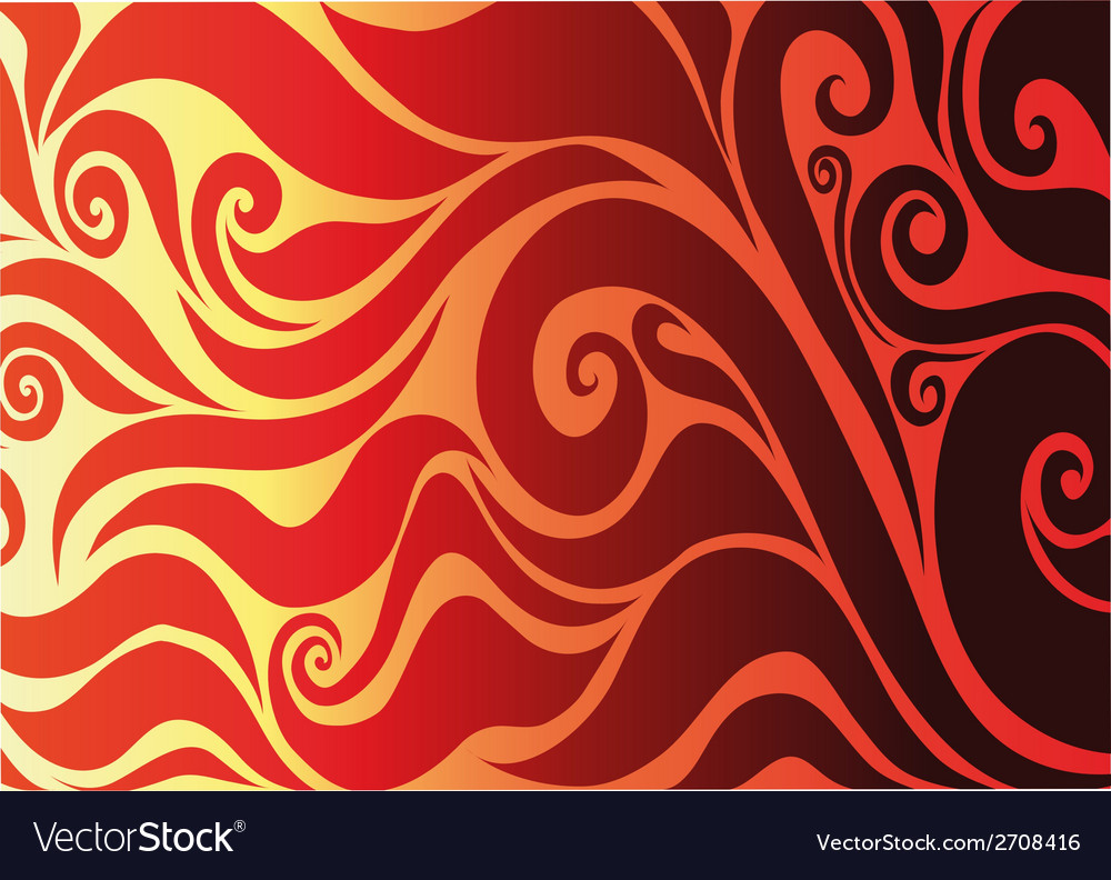 Yellow seamless on red background with abstract vector | Price: 1 Credit (USD $1)