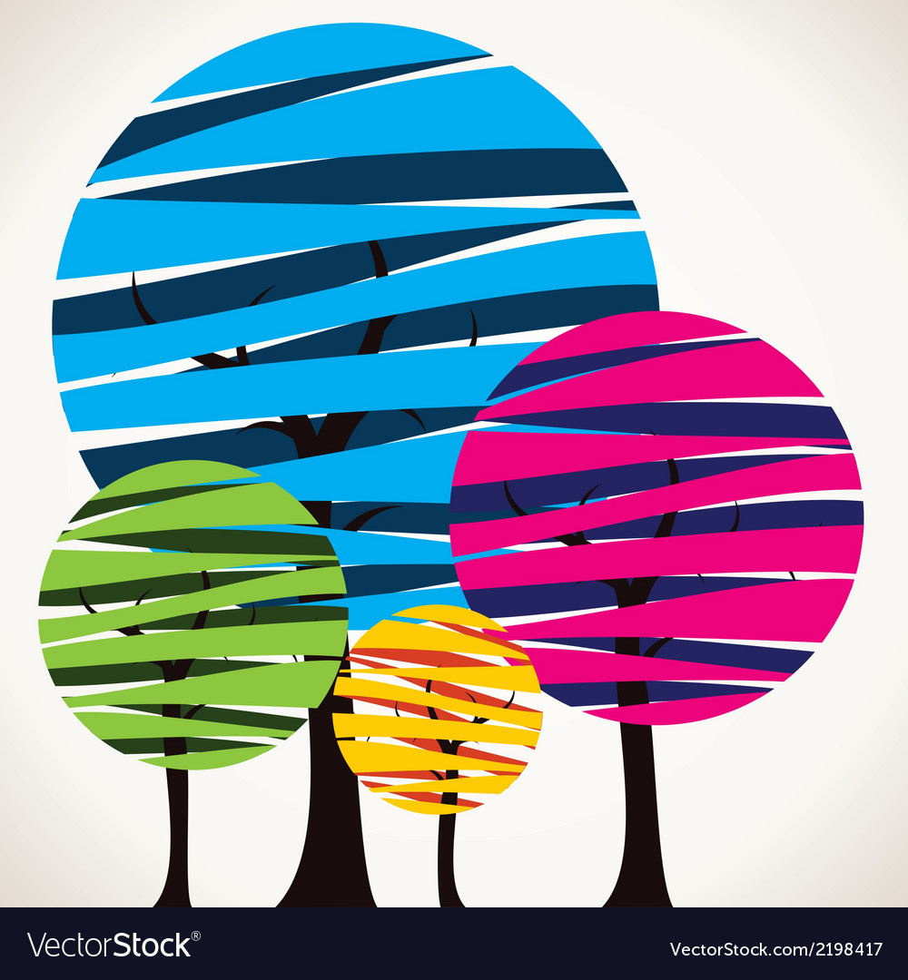 Abstract colorful tree vector   Price: 1 Credit (USD $1)
