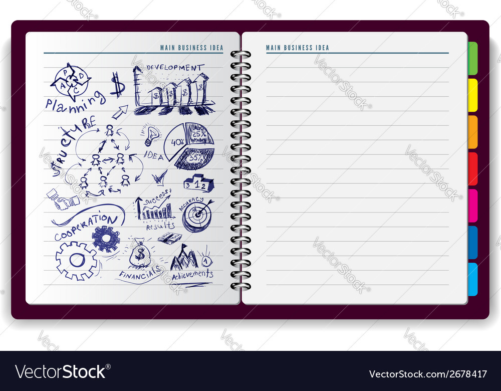 Creative notebook idea vector | Price: 1 Credit (USD $1)