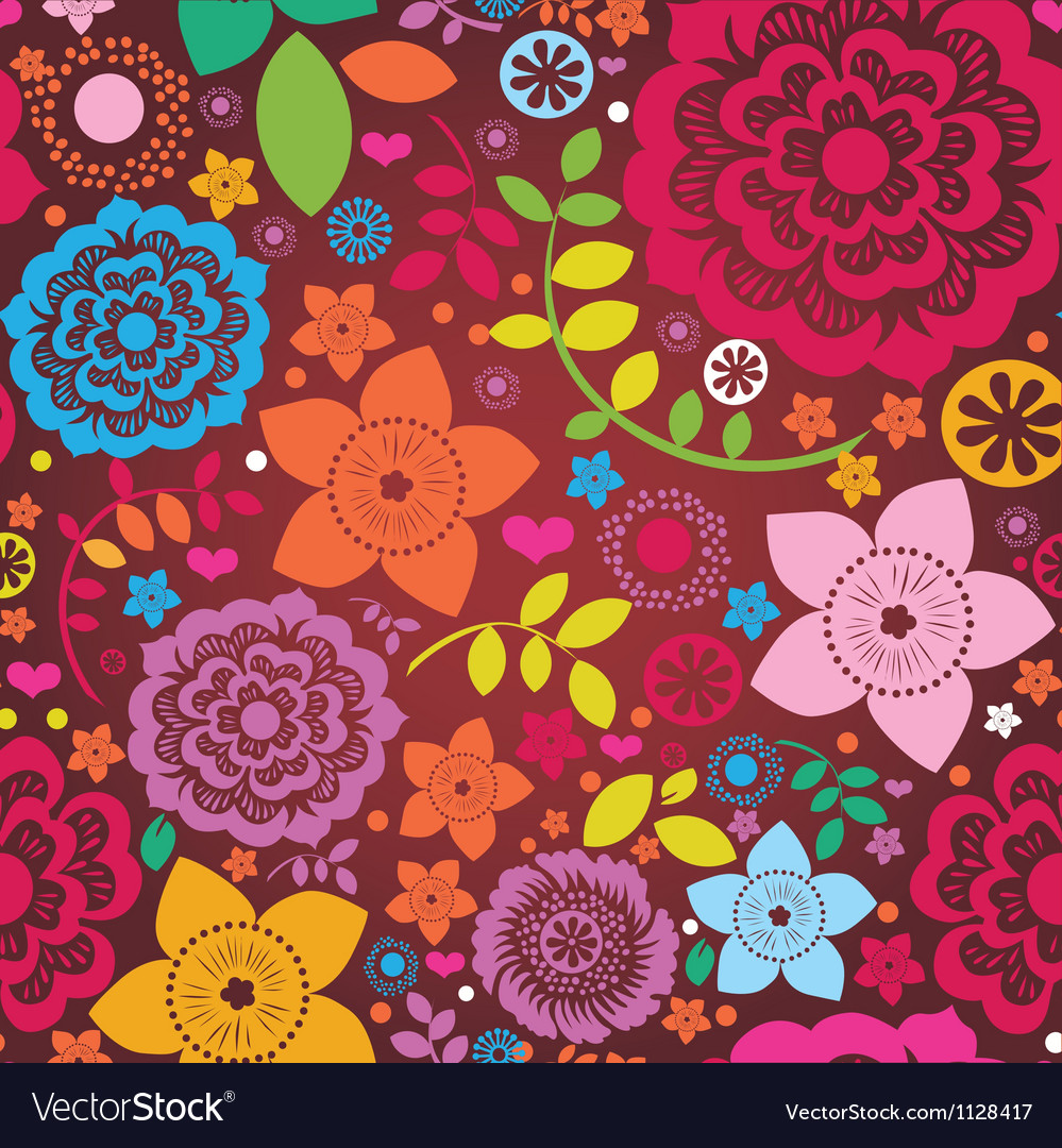 Floral ornamental greeting card vector | Price: 1 Credit (USD $1)