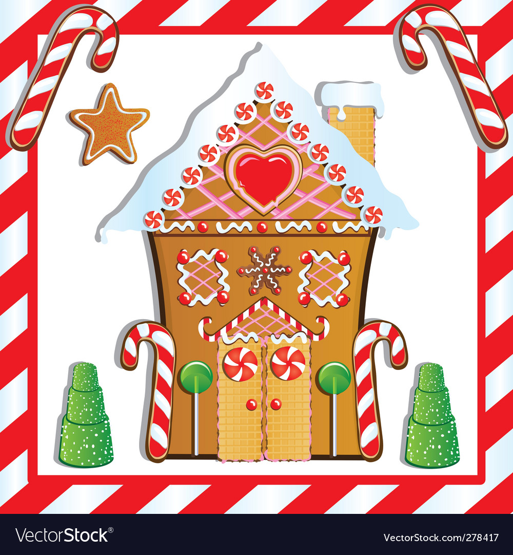 Gingerbread house vector | Price: 3 Credit (USD $3)