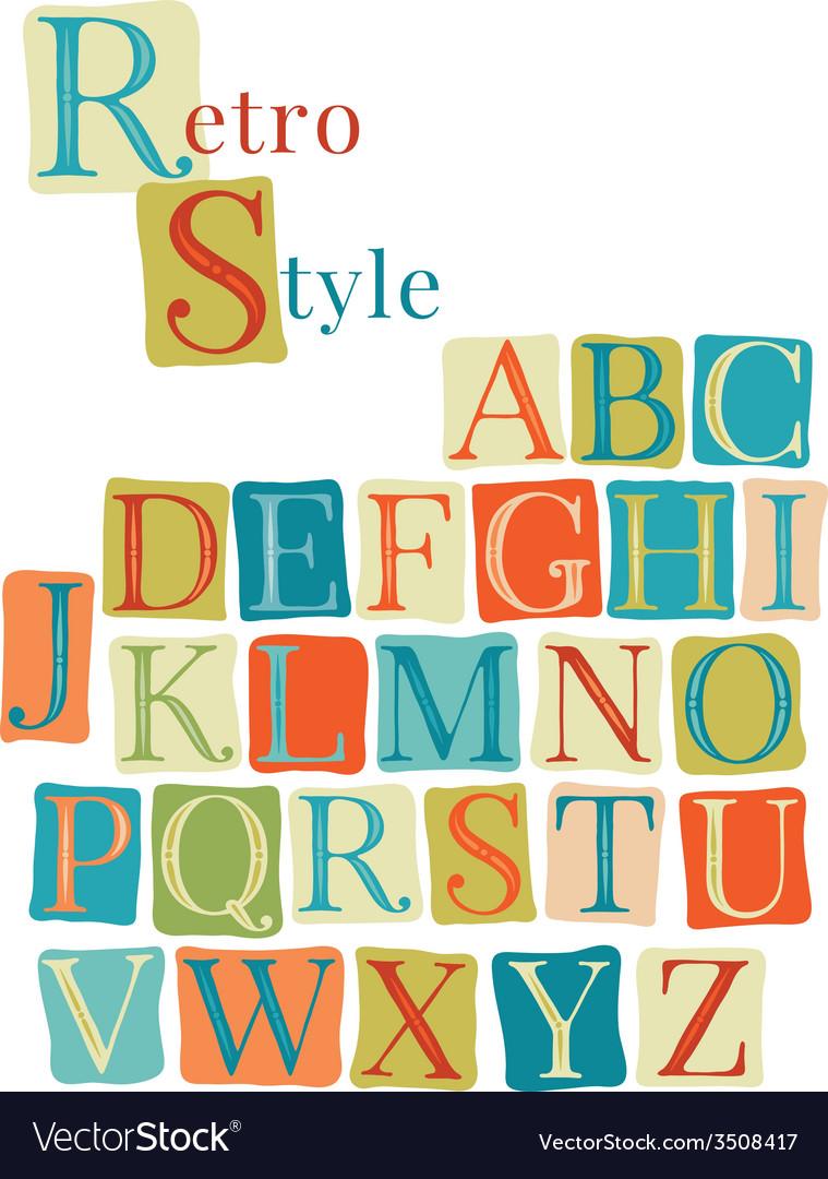Handwritten vintage alphabet vector | Price: 1 Credit (USD $1)