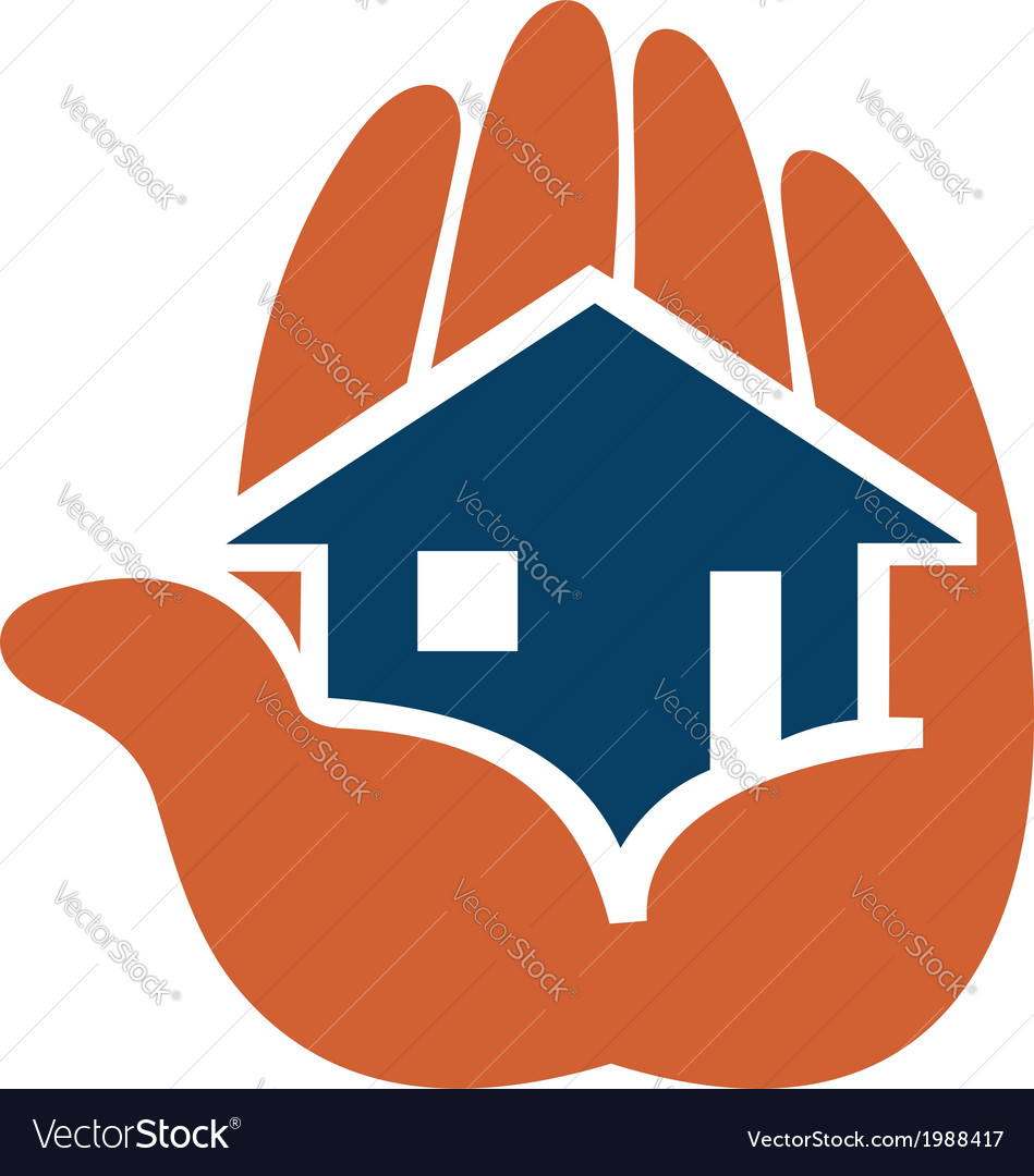 House in people hands vector | Price: 1 Credit (USD $1)