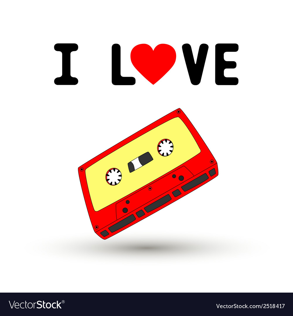 I love tape1 vector | Price: 1 Credit (USD $1)