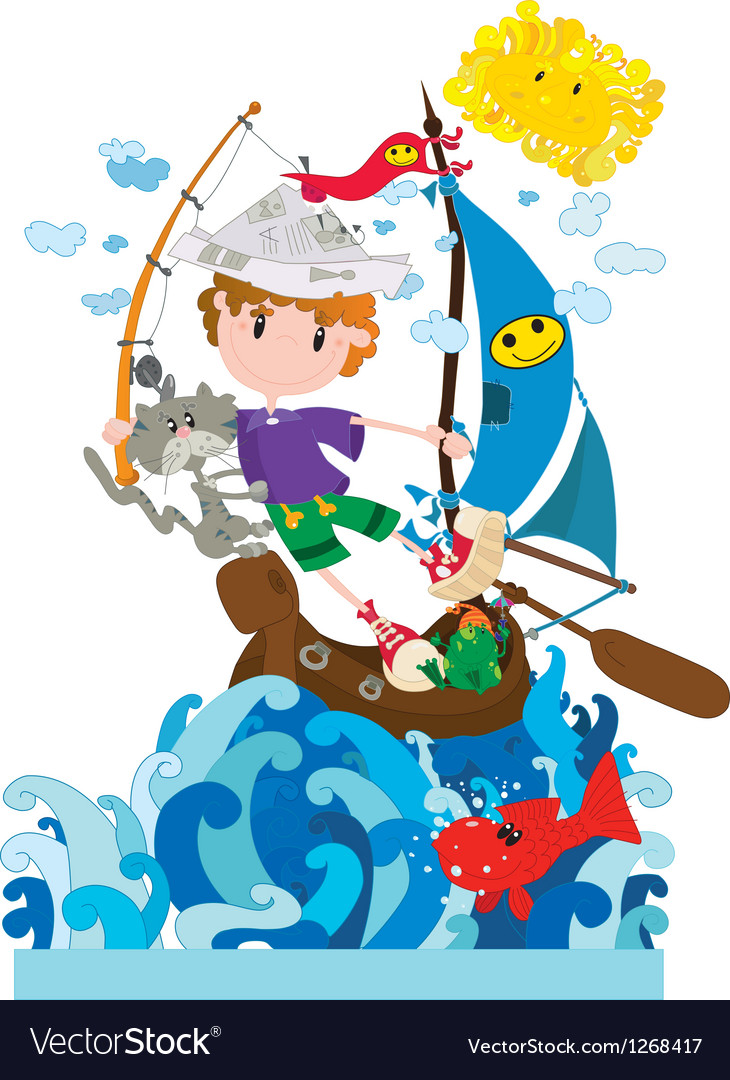 Little sailor vector | Price: 3 Credit (USD $3)