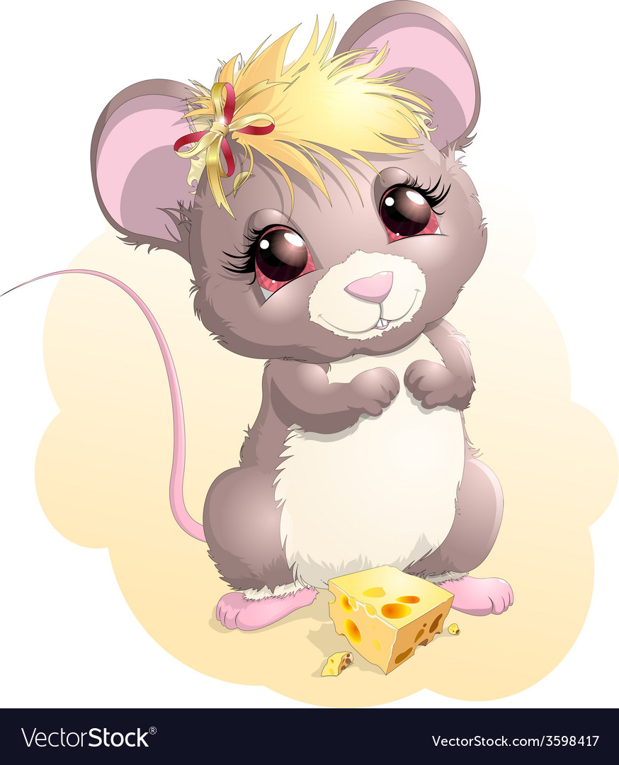 Mouse and cheese vector | Price: 3 Credit (USD $3)