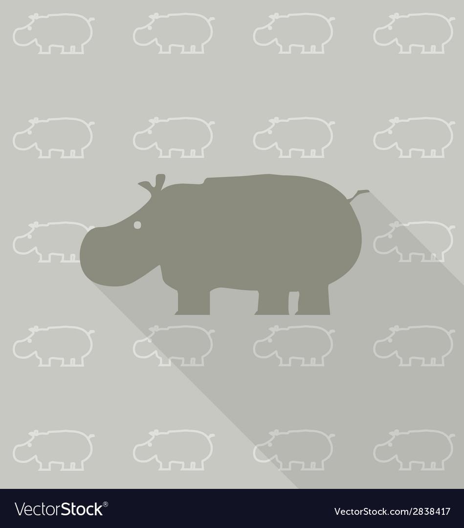 Nhippopotamus vector | Price: 1 Credit (USD $1)