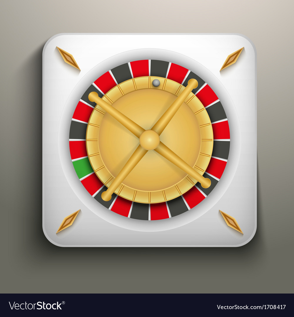 Realistic icon roulette casino vector | Price: 1 Credit (USD $1)