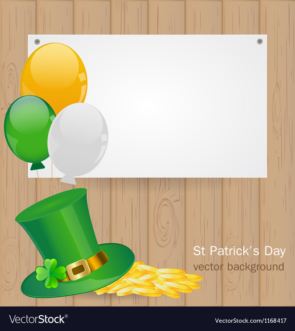 St patrick day background vector   Price: 1 Credit (USD $1)