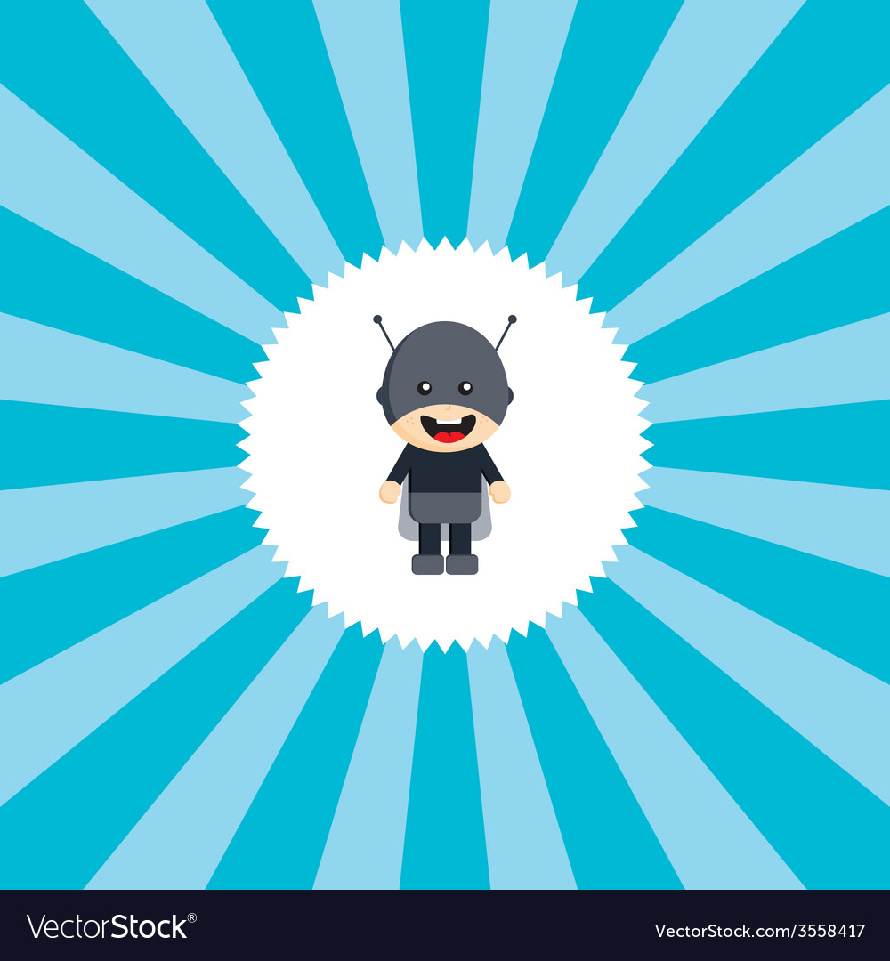 Superhero cartoon character vector | Price: 1 Credit (USD $1)