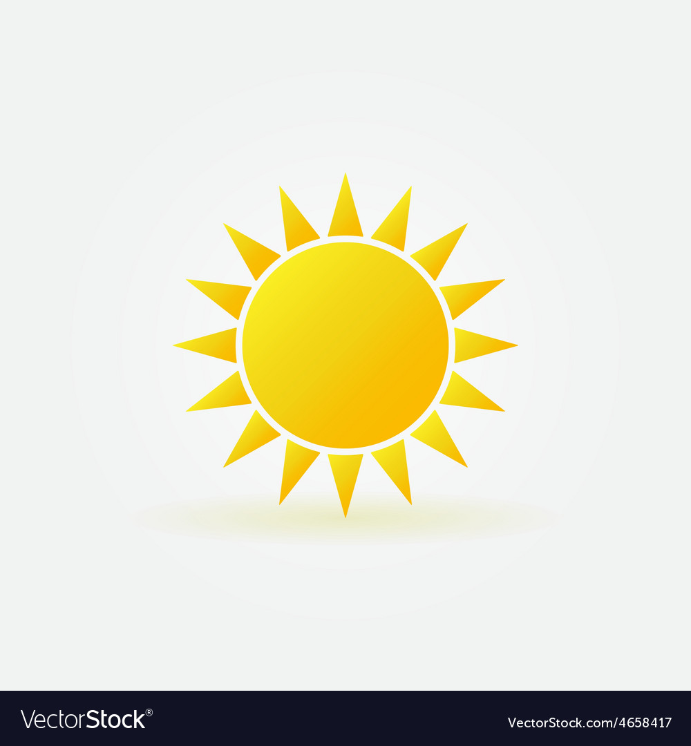 Yellow sun logo or icon vector | Price: 1 Credit (USD $1)