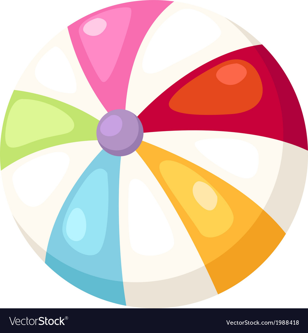 Beach ball vector | Price: 1 Credit (USD $1)