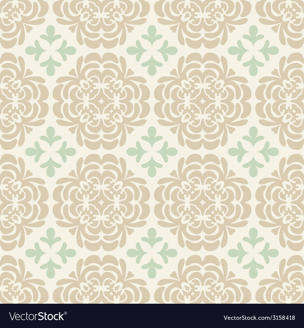 Beige wallpaper pattern vector | Price: 1 Credit (USD $1)