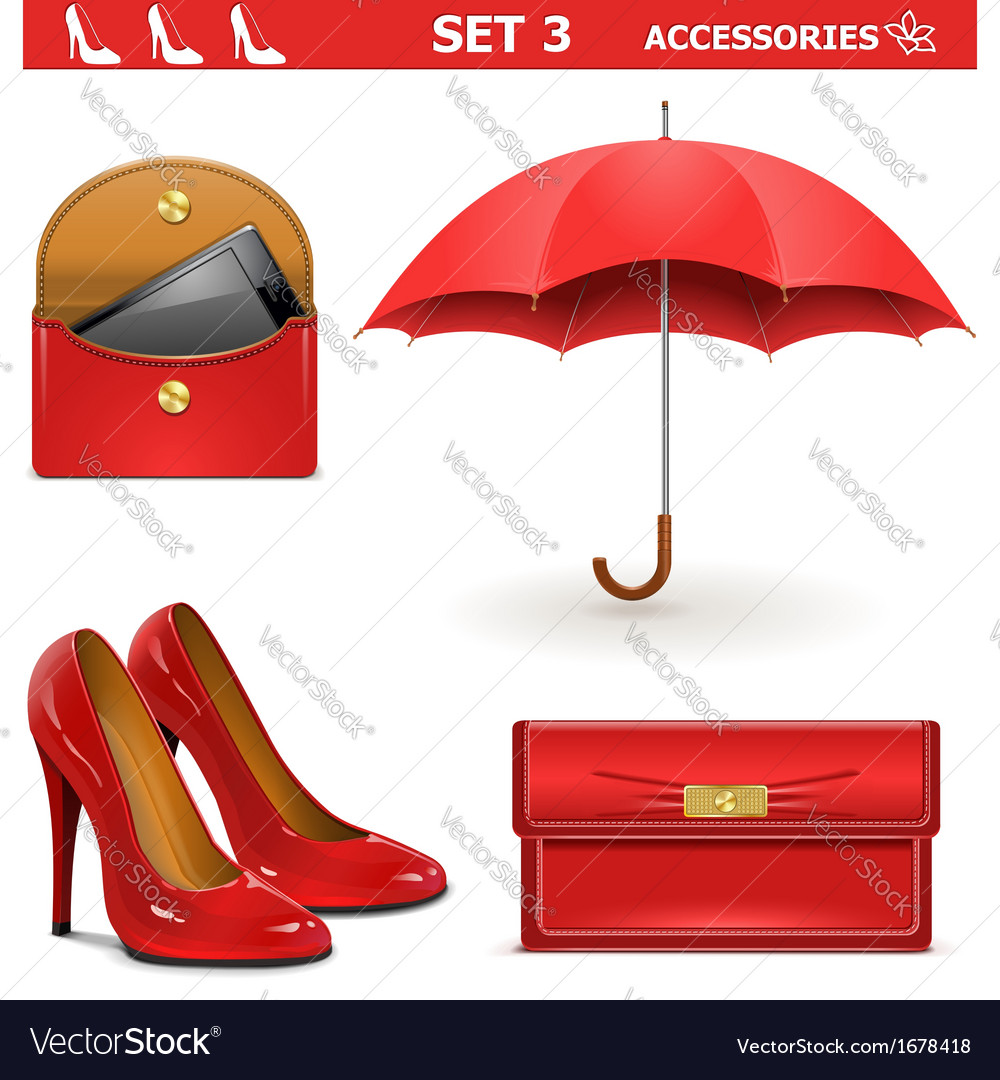 Female accessories set 3 vector | Price: 1 Credit (USD $1)
