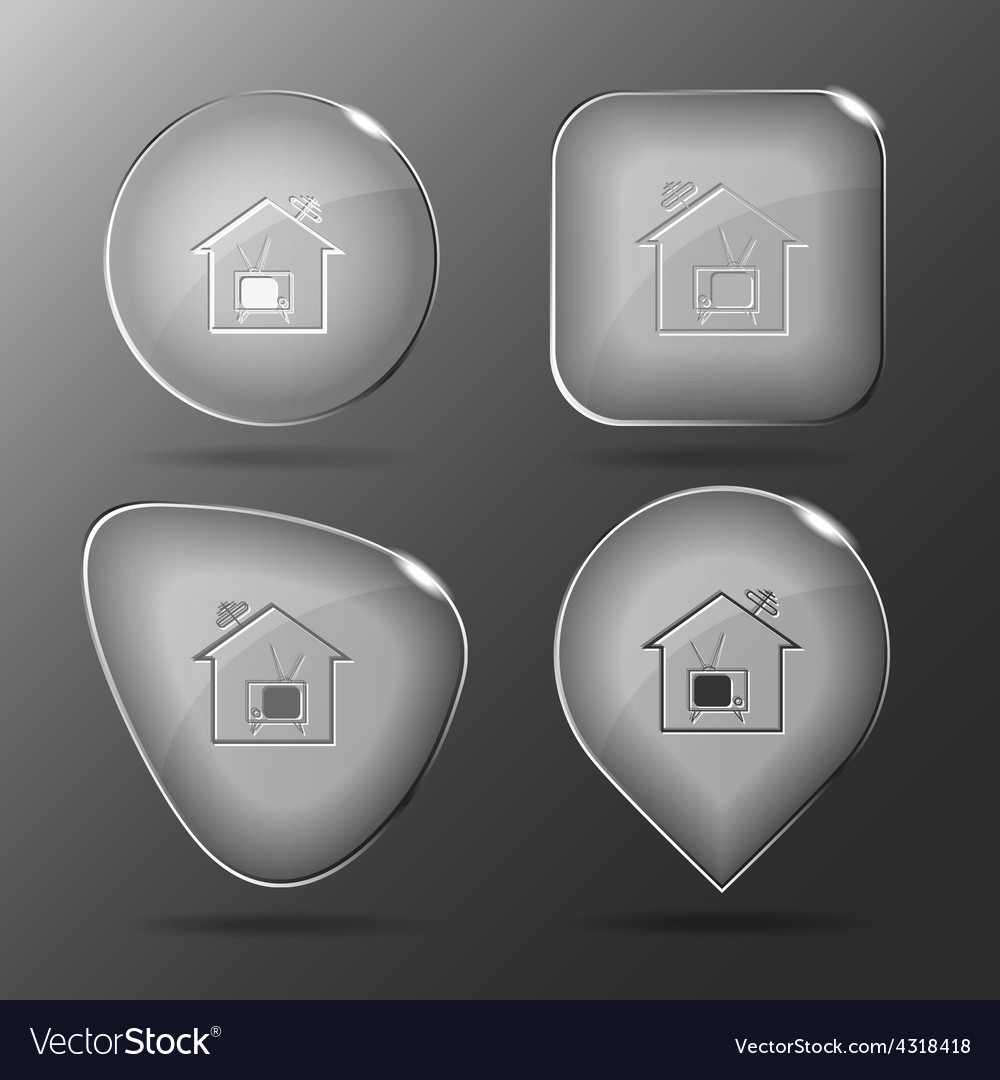 Home tv glass buttons vector | Price: 1 Credit (USD $1)