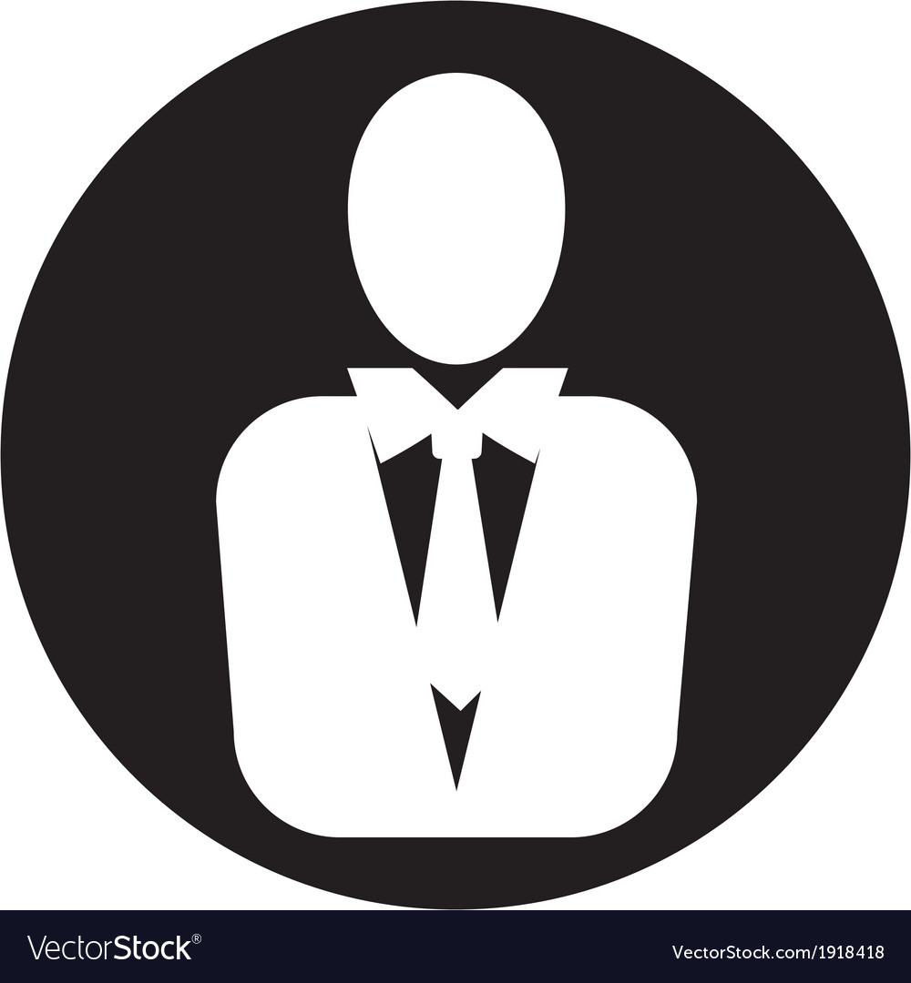 Man manager icon vector | Price: 1 Credit (USD $1)