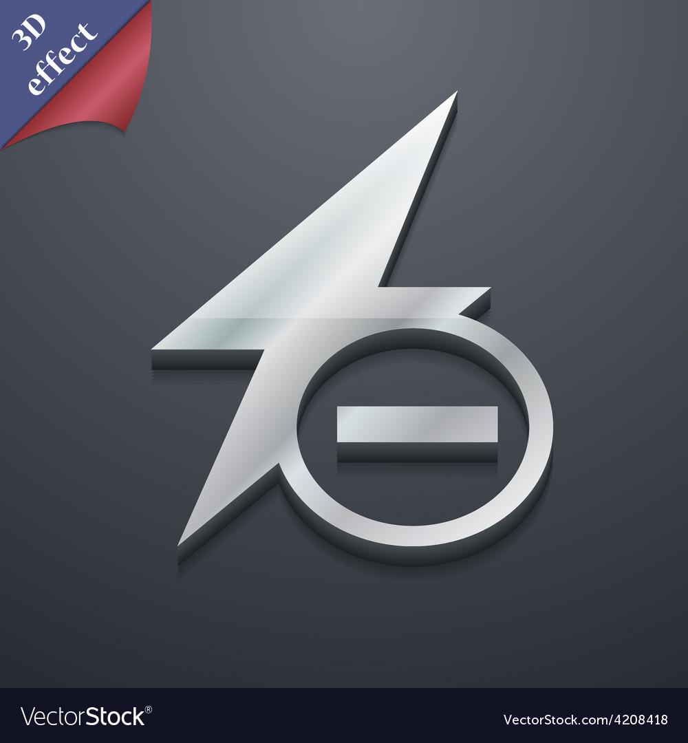 Photo flash icon symbol 3d style trendy modern vector | Price: 1 Credit (USD $1)