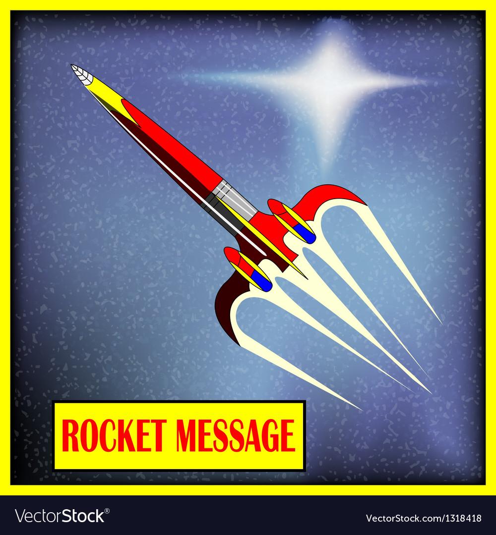 Retro space rocket vector | Price: 1 Credit (USD $1)
