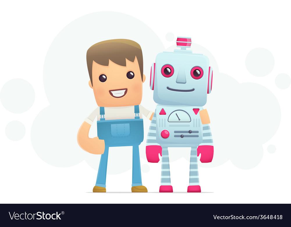 Robot repair vector | Price: 1 Credit (USD $1)