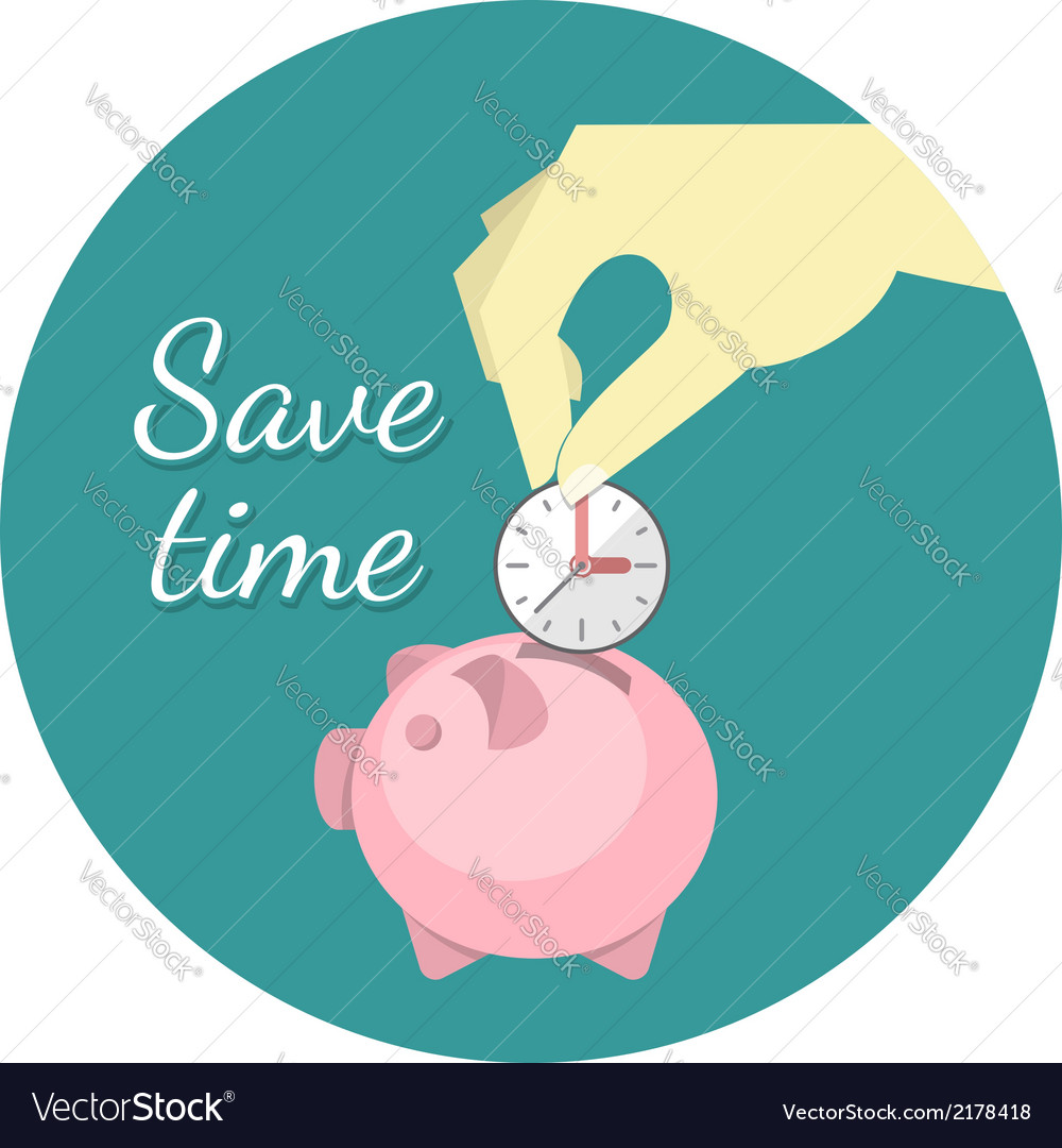 Save time concept vector | Price: 1 Credit (USD $1)