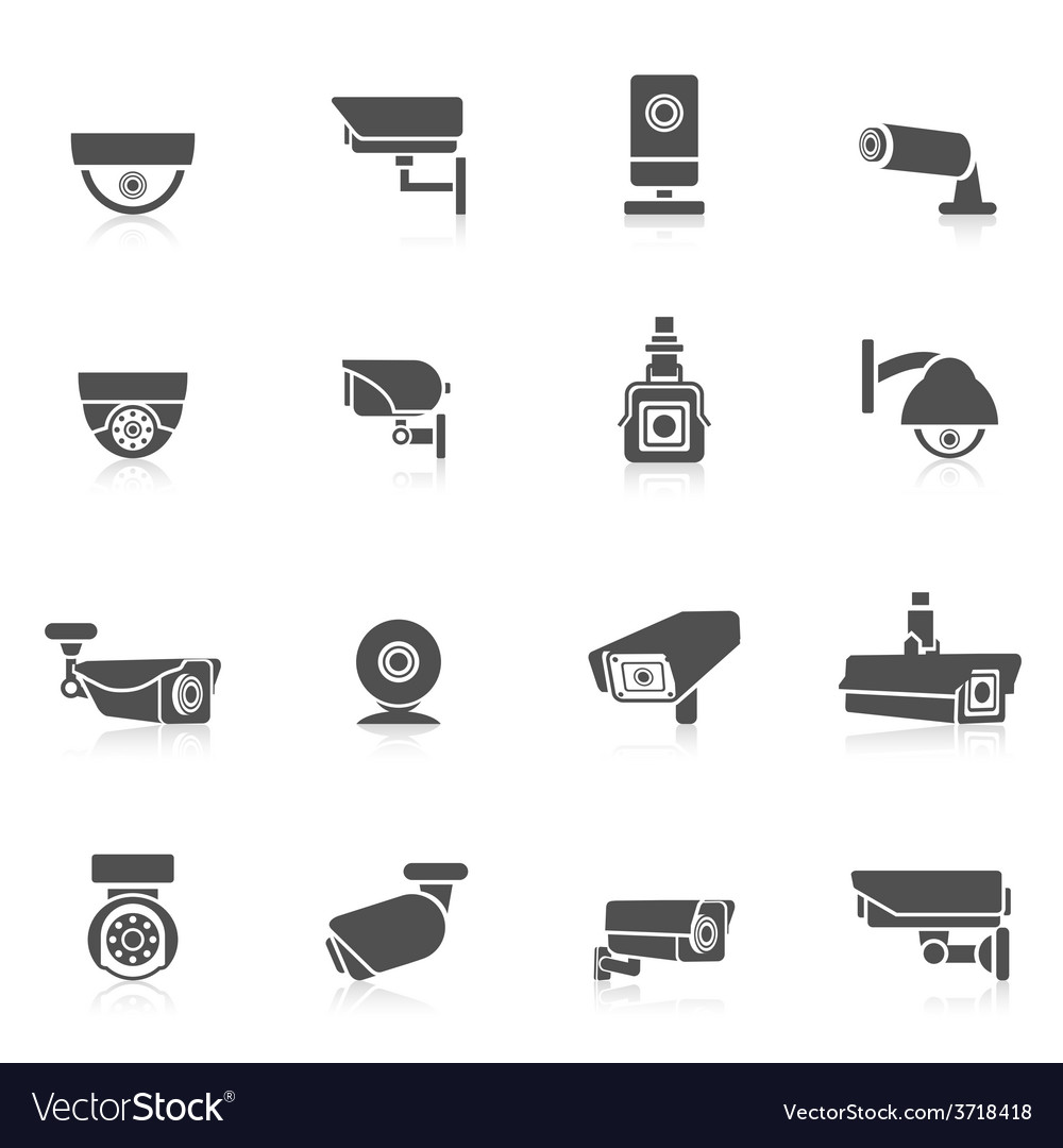 Security camera icons vector | Price: 1 Credit (USD $1)