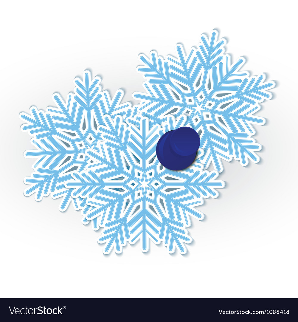 Snowflake pinned vector | Price: 1 Credit (USD $1)