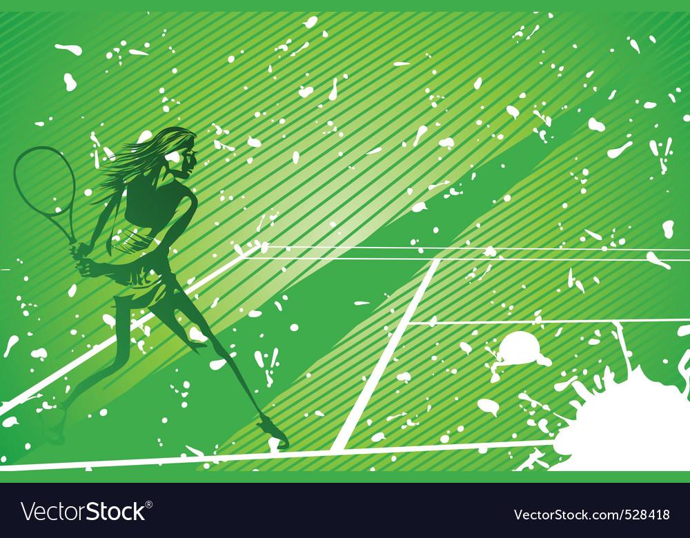 Tennis illustration vector | Price: 1 Credit (USD $1)