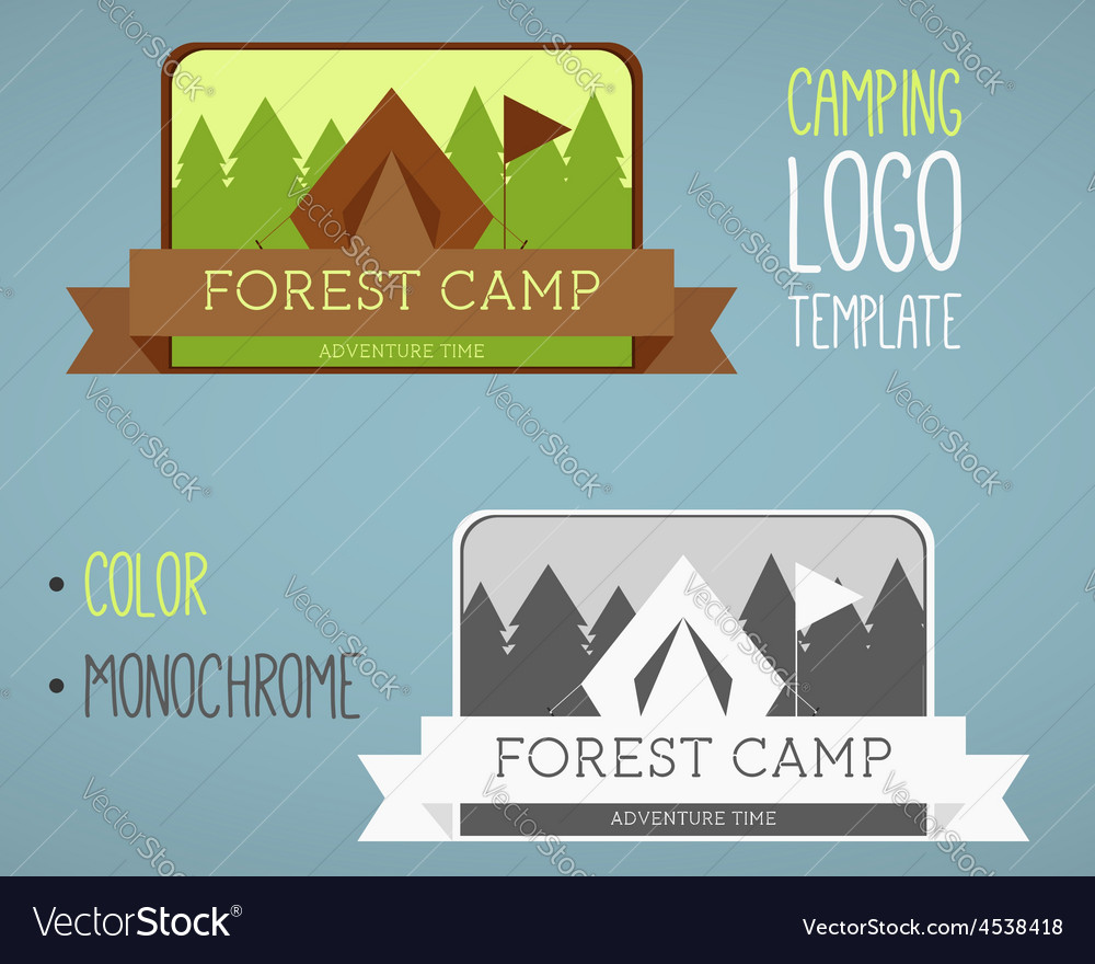 Vintage camping and outdoor activity logos vector | Price: 1 Credit (USD $1)