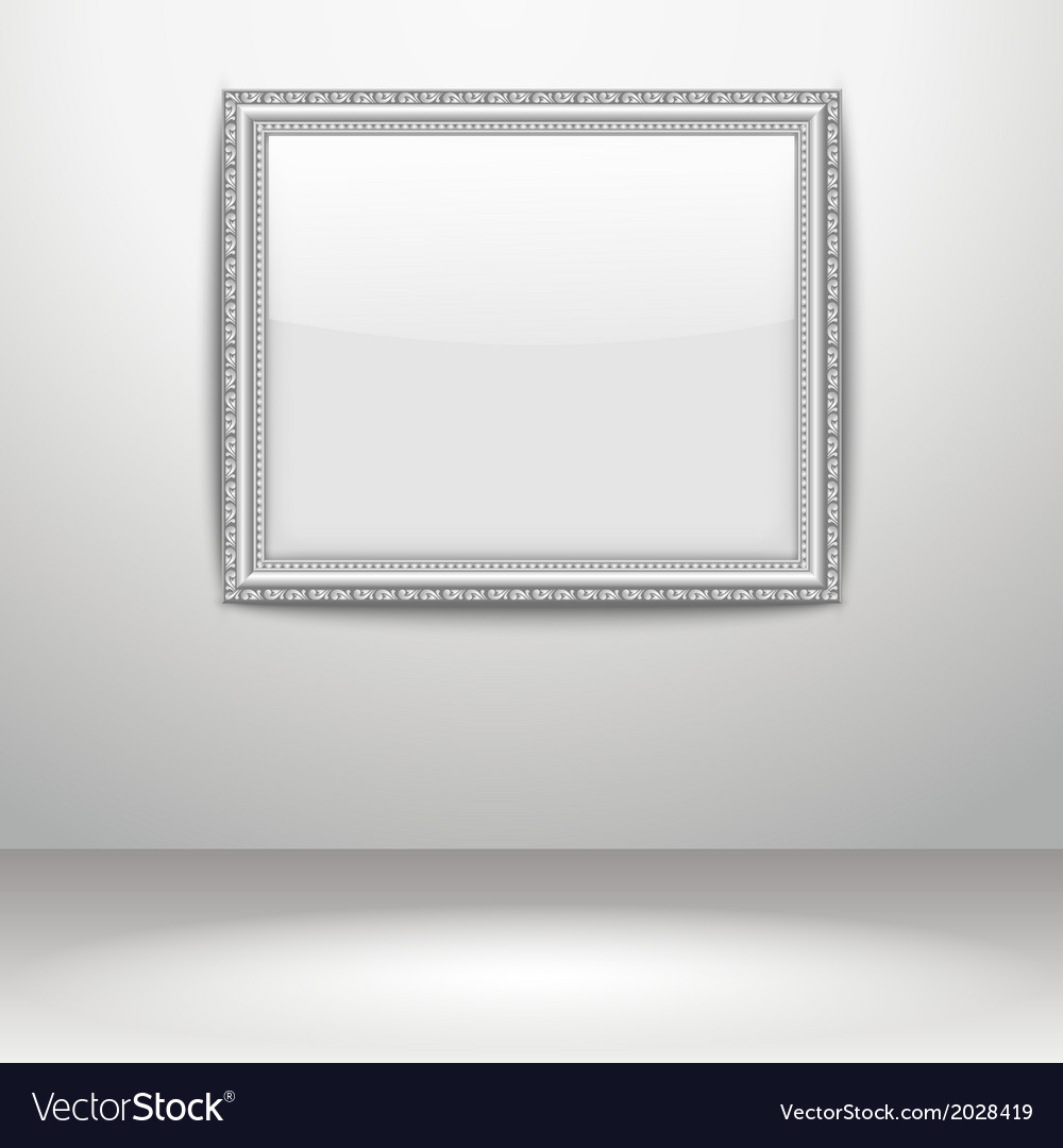 An empty frame on a wall vector | Price: 1 Credit (USD $1)