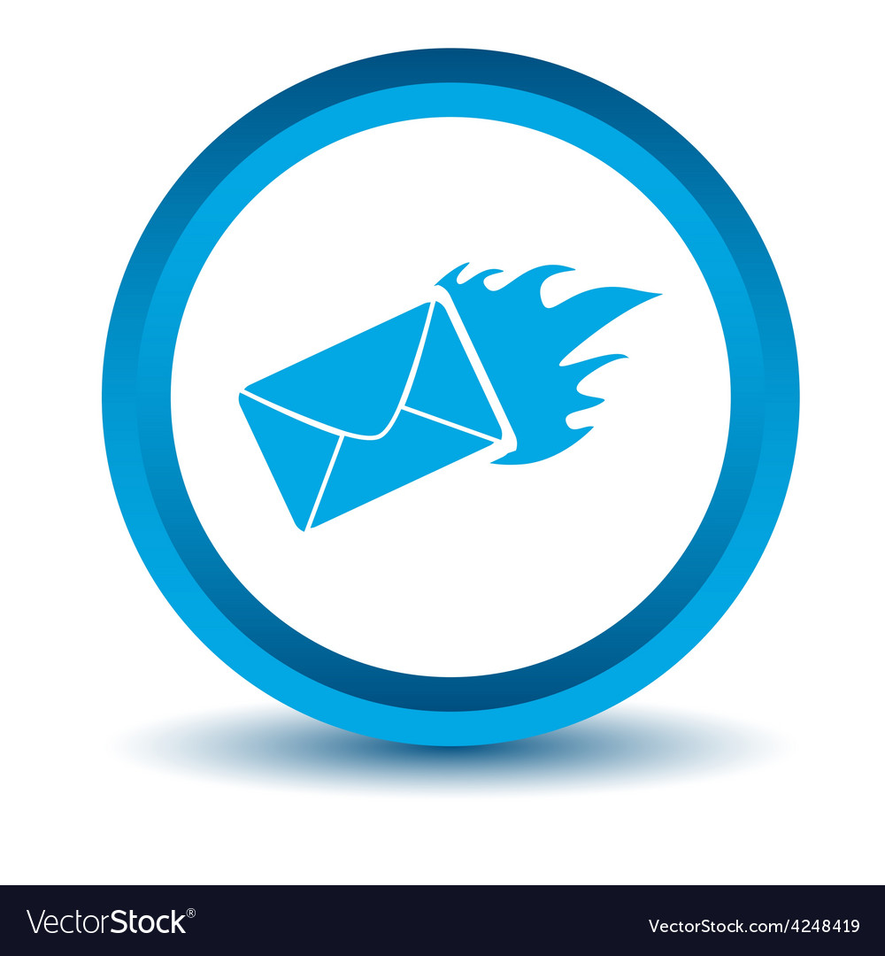 Blue hot letter icon vector | Price: 1 Credit (USD $1)