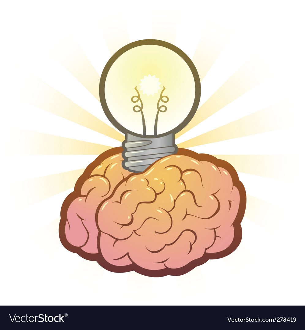 Brain light bulb vector | Price: 3 Credit (USD $3)