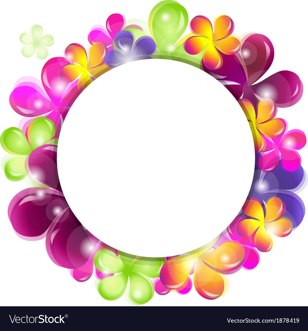 Circle with abstract flowers vector   Price: 1 Credit (USD $1)