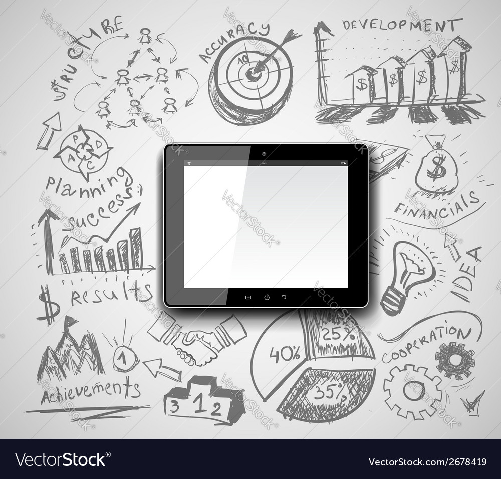 Creative tablet pc idea vector | Price: 1 Credit (USD $1)