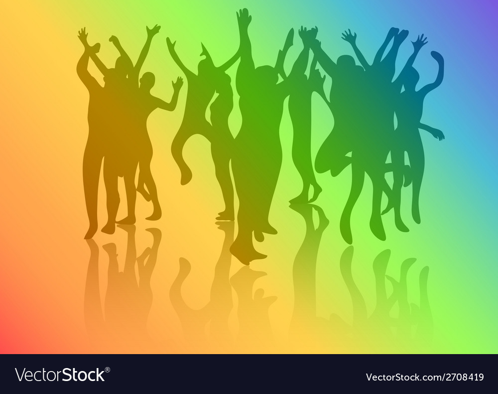 Dance crowd vector | Price: 1 Credit (USD $1)