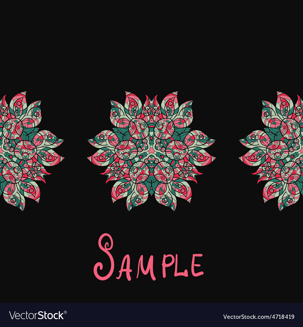 Ethnic paisley ornament abstract background with vector | Price: 1 Credit (USD $1)