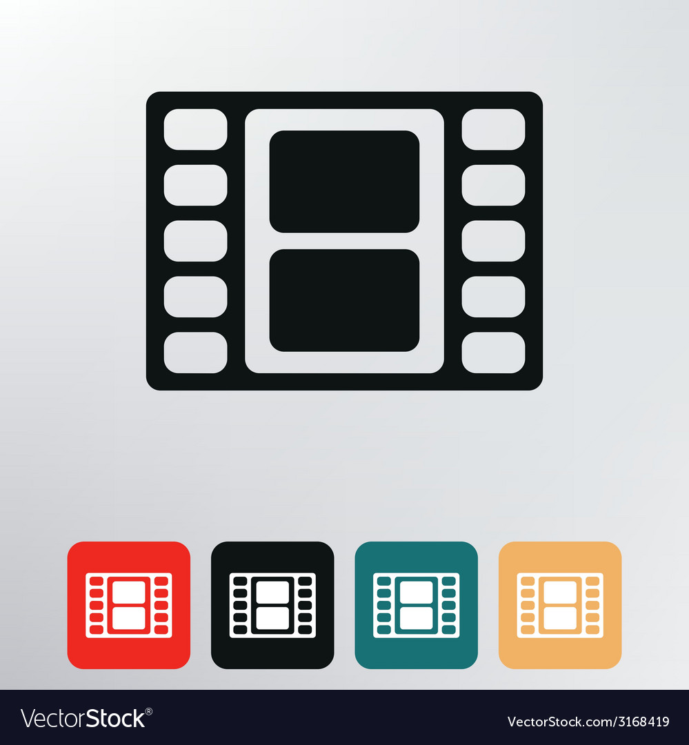 Film reel icon vector | Price: 1 Credit (USD $1)