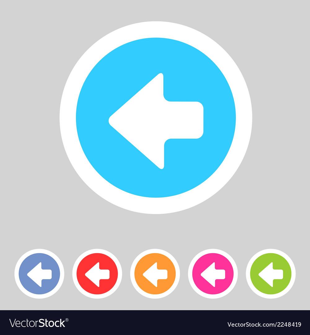 Flat game graphics icon arrow left vector   Price: 1 Credit (USD $1)
