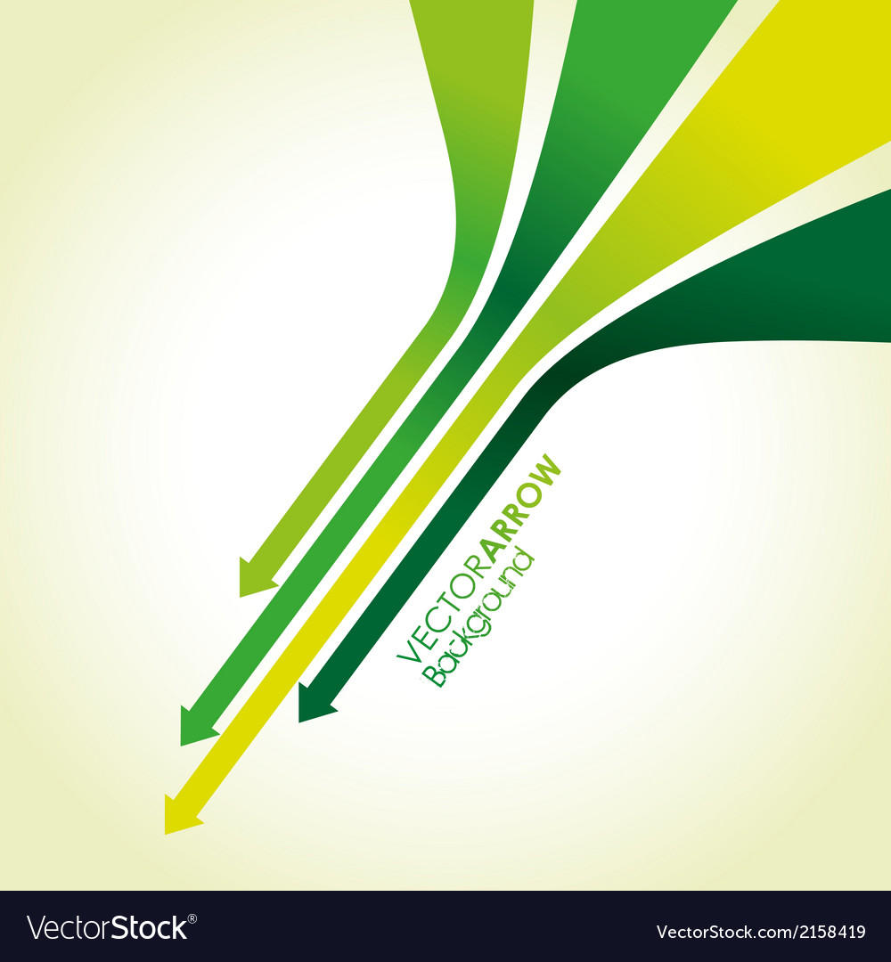 Green arrow strips vector | Price: 1 Credit (USD $1)