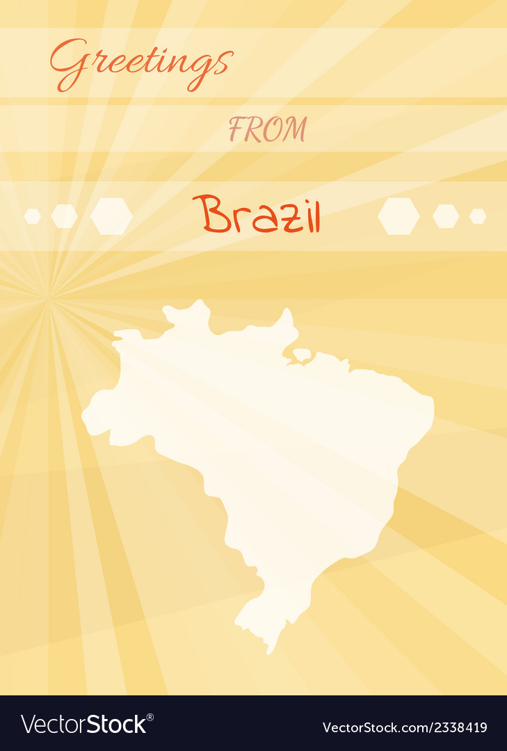Greetings from brazil vector | Price: 1 Credit (USD $1)