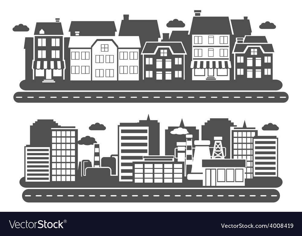 Landscape city banner vector | Price: 1 Credit (USD $1)