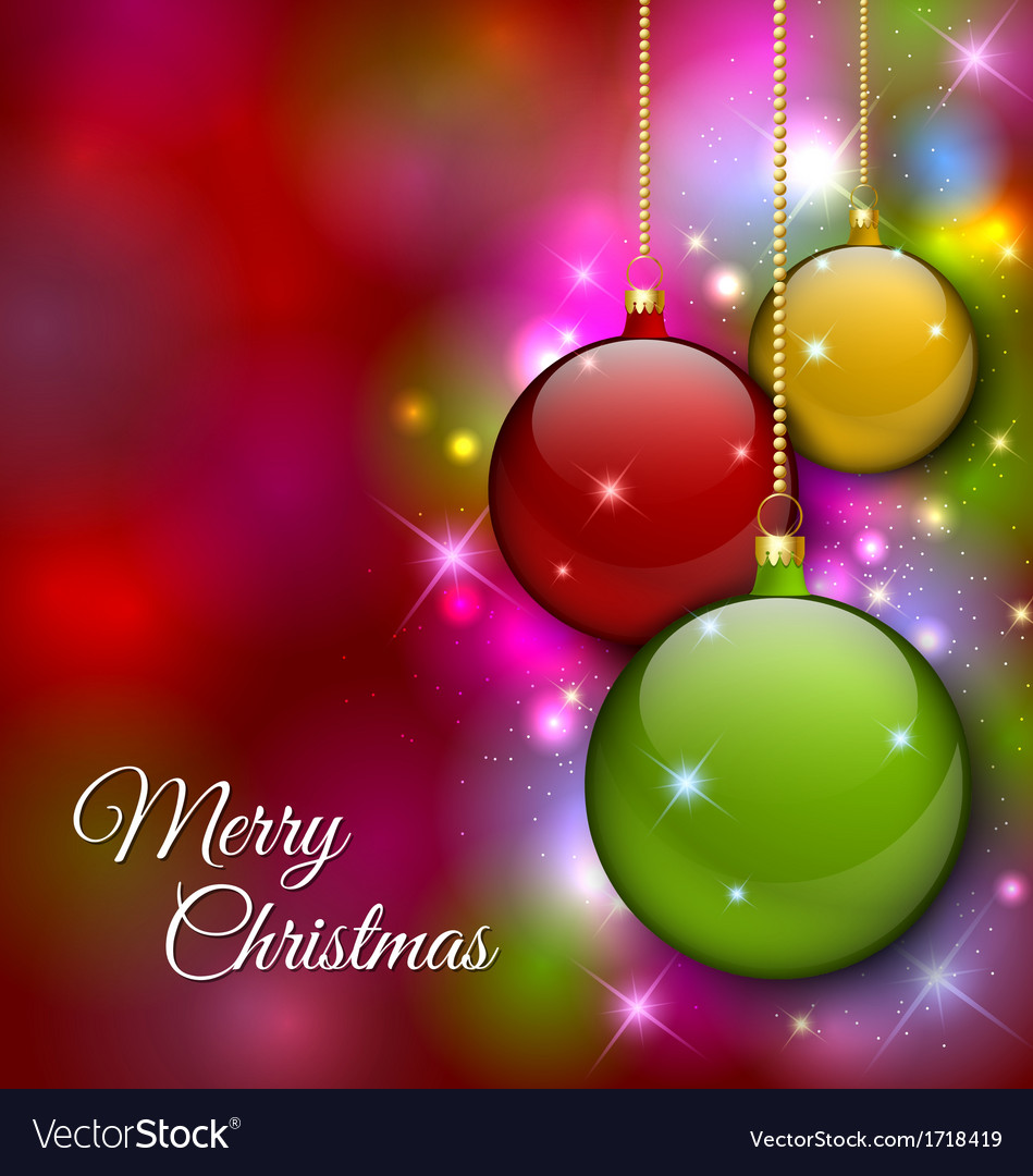 Merry christmas decoration vector | Price: 1 Credit (USD $1)
