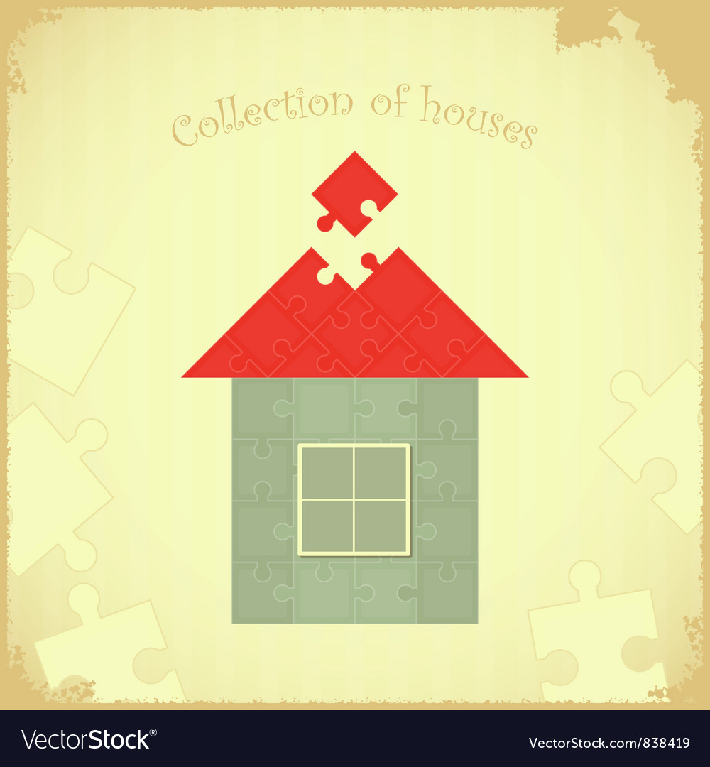 Puzzle house vector | Price: 1 Credit (USD $1)