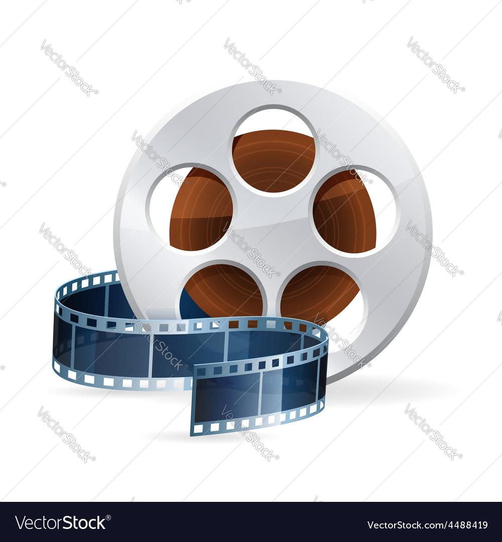 Realistic detailed cinema bobbin vector | Price: 3 Credit (USD $3)